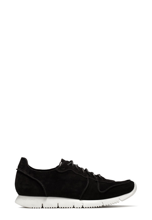 BUTTERO: BLACK SUEDE CARRERA SNEAKERS COLOR BLACK
