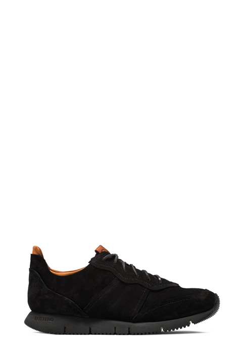 BUTTERO: SNEAKER CARRERA IN SUEDE NERO