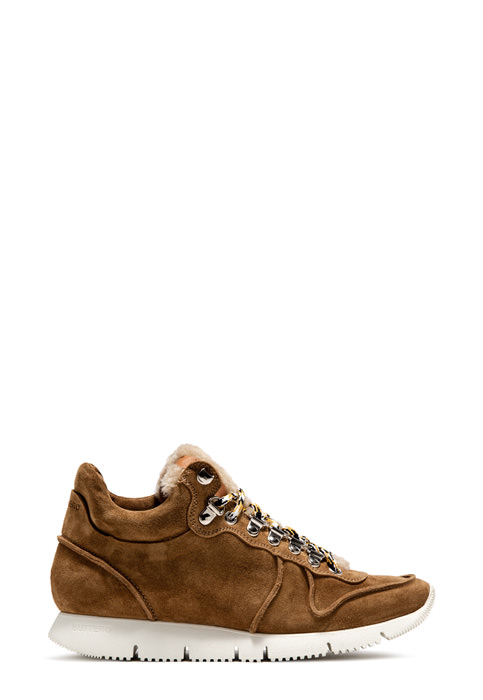 BUTTERO: CARRERA SNEAKERS IN COPPER SUEDE (B8672VARA-DG1/A)