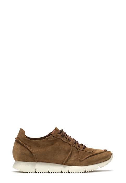 BUTTERO: CARRERA SNEAKERS IN COPPER BROWN SUEDE (B6081LIG-DG1/13)