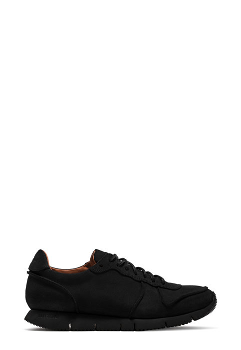 BUTTERO: SNEAKER CARRERA IN SUEDE TREK WATERPROOF NERO