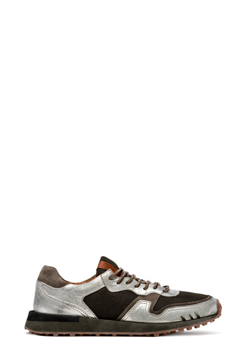 BUTTERO: FUTURA SNEAKERS IN NYLON? MESH AND SUEDE COLOR SILVER (B8810VARD-UG1/D)