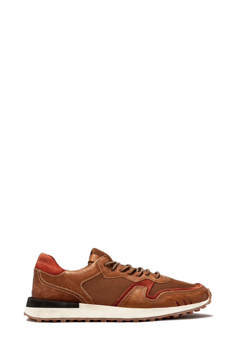 BUTTERO: FUTURA SNEAKER IN NATURAL LEATHER COLOR SUEDE NYLON AND MESH (B8810VARC-UG1/C)