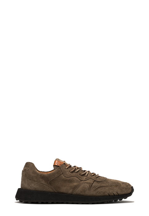 BUTTERO: FUTURA SNEAKERS IN FOREST GREEN SUEDE (B9120GORH-UG1/83)