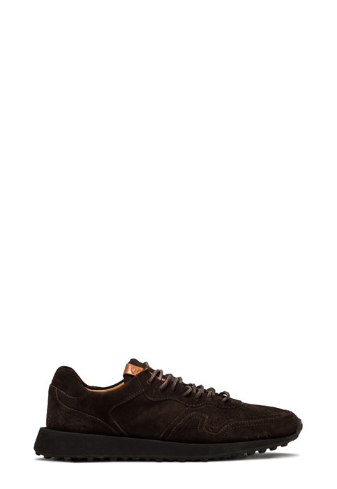BUTTERO: FUTURA SNEAKERS IN PEPPER BROWN SUEDE (B9120GORH-UG1/84)