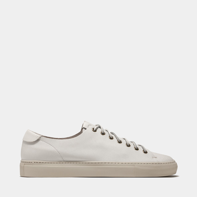 BUTTERO: TANINO SNEAKERS IN WHITE BIANCHETTO LEATHER