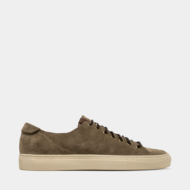 BUTTERO: TANINO SNEAKERS IN GRAY SUEDE (B4020GORH-UG1/17)