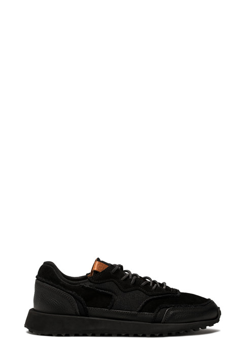 BUTTERO: VENTURA SNEAKERS IN BLACK NYLON MESH AND SUEDE (B8890VARC-UG1/C)