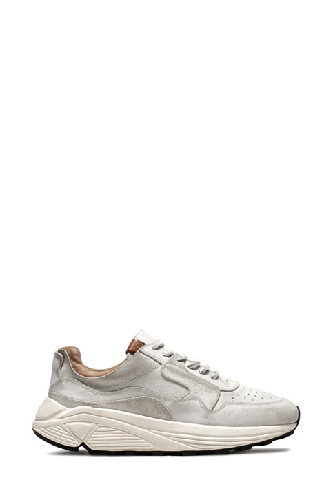 BUTTERO: VINCI RUNNING IN WHITE BIANCHETTO LEATHER