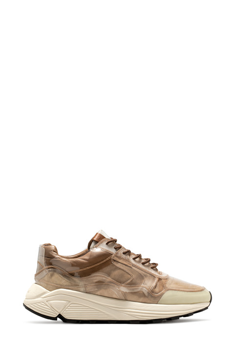 BUTTERO: VINCI SNEAKER IN NATURAL BROWN LINING COATED IN PVC (B8205VARA-UG1/A)