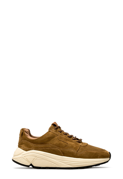BUTTERO: COPPER SUEDE VINCI SNEAKERS (B8664LIG-DG1/13)