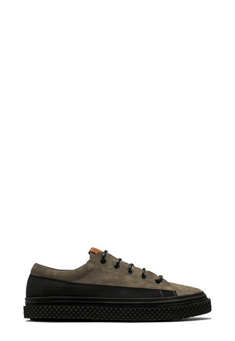 BUTTERO: BRIGATA SNEAKERS IN FOREST GREEN SUEDE (B9100GORH-UG1/83)