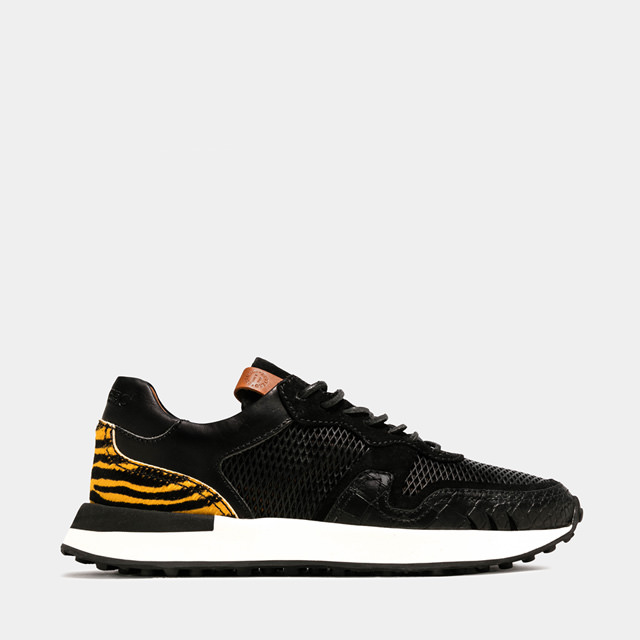 BUTTERO: FUTURA SNEAKERS IN MIXED LEATHER MATERIALS (B9451VARB-DG1/B)