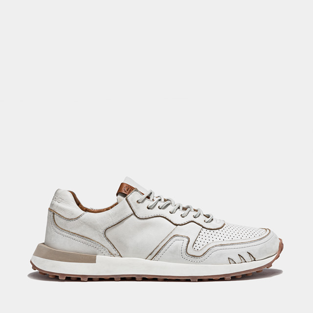 BUTTERO: FUTURA SNEAKERS IN WHITE LEATHER (B9351RUBE-UG1/02)