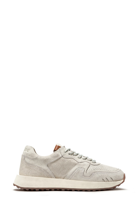 BUTTERO: FUTURA SNEAKERS IN BIANCHETTO LEATHER (B9250BIANV-DG1/03)