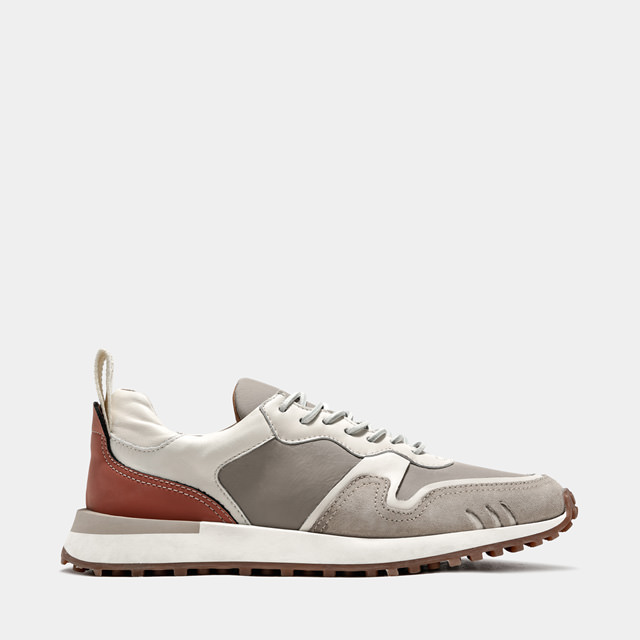BUTTERO: FUTURA SNEAKERS IN GRAY LEATHER MIX AND NYLON (B9520VARD-UG1/D)