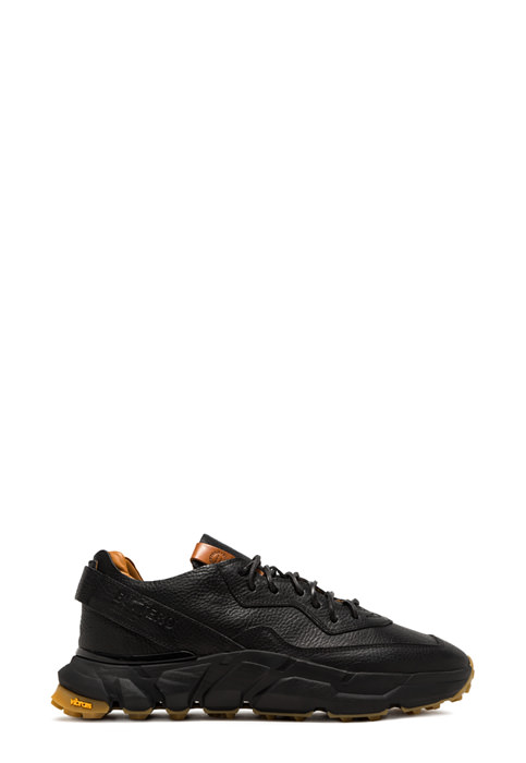 BUTTERO: SPAZIO SNEAKERS IN BLACK LEATHER (B9110MAIN-UG1/01)