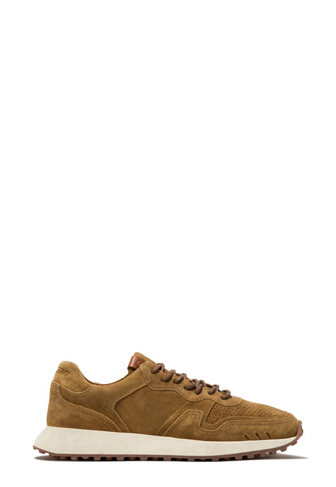 BUTTERO: FUTURA SNEAKERS IN COPPER BROWN SUEDE (B9250LIG-DG1/13)