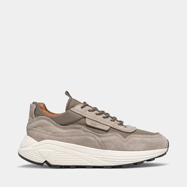 BUTTERO: VINCI SNEAKERS IN BEIGE NYLON AND SUEDE MIX (B9370VARB-UG1/B)