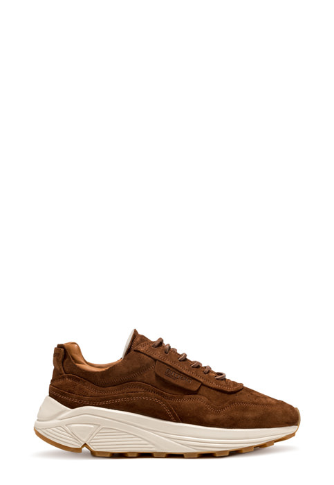 BUTTERO: VINCI SNEAKERS IN FOX BROWN SUEDE (B9260LIG-DG1/54)