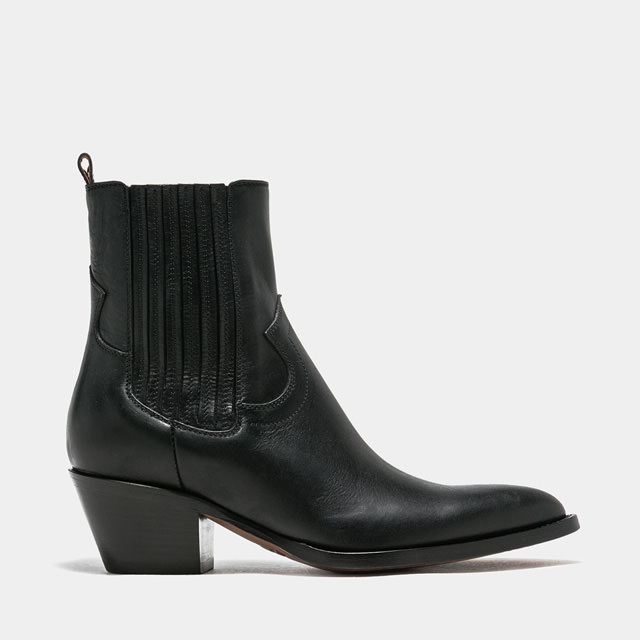 BUTTERO: ANNIE BOOTS IN BLACK LEATHER (B9602ELBA-DC1/01)