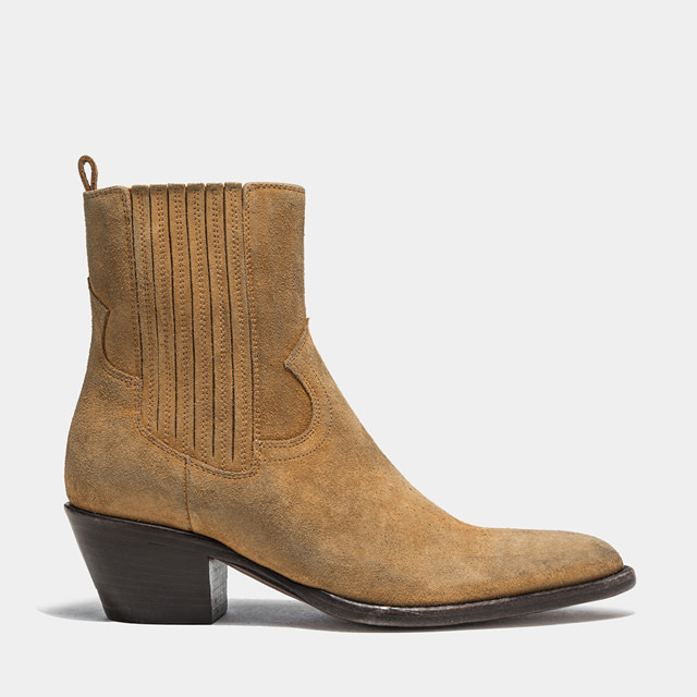 BUTTERO: ANNIE BOOTS IN COPPER COLOR SUEDE (B9401LIG-DC1/13)