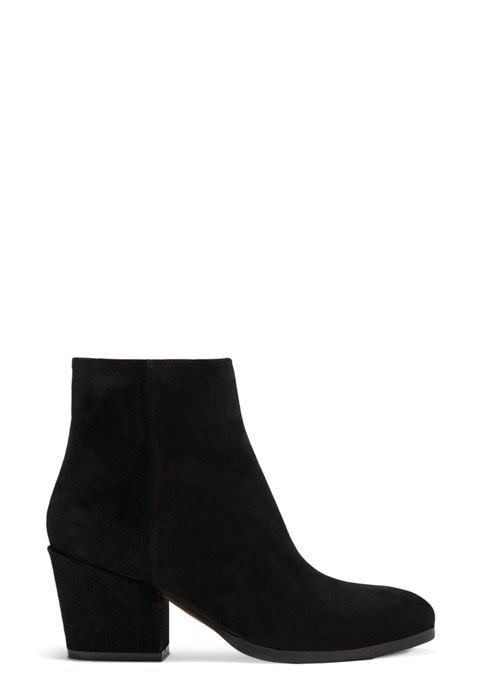 BUTTERO: BLACK SUEDE NEW YORK LOW TOP BOOTS (B8150LIG-DG1/01)