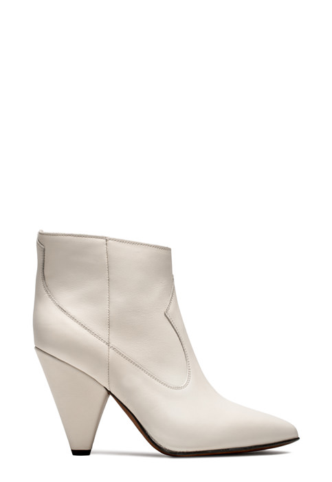 BUTTERO: WHITE LEATHER ROSE LOW TOP BOOTS (B8633HIB-DG1/02)