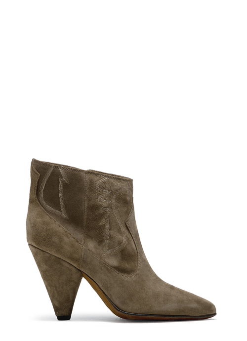 BUTTERO: FOREST GREEN SUEDE ROSE LOW TOP BOOTS