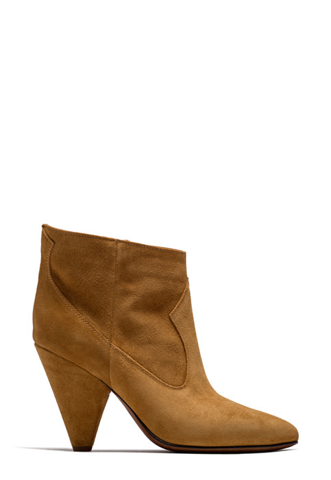 BUTTERO: COPPER SUEDE ROSE LOW TOP BOOTS (B8633LIG-DG1/13)