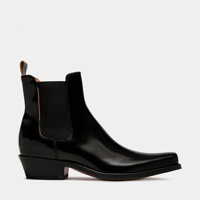 BUTTERO: DALTON BOOTS IN BLACK LEATHER (B9300ROA-UC1/01)