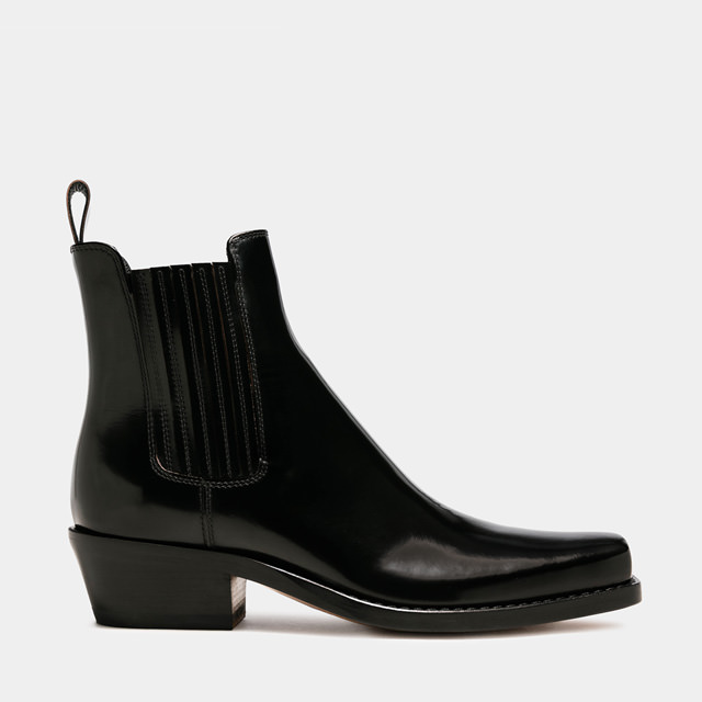 BUTTERO: DALTON BOOTS IN BLACK LEATHER (B9410ROA-DC1/01)