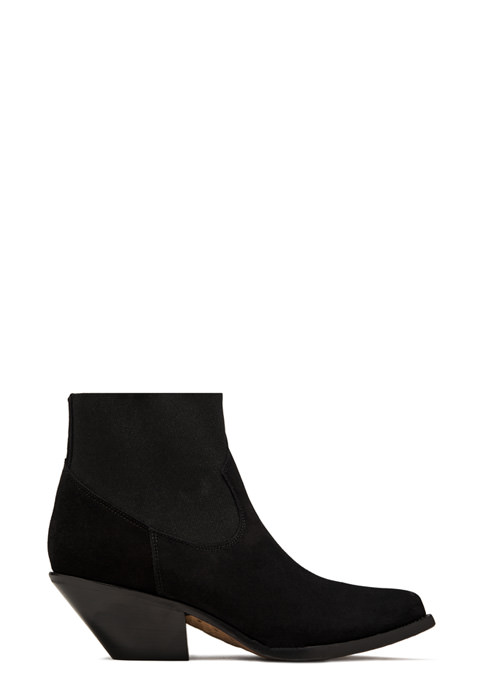 BUTTERO: STIVALE ELISE BASSO IN SUEDE NERO (B8609VARA-DC1/A)