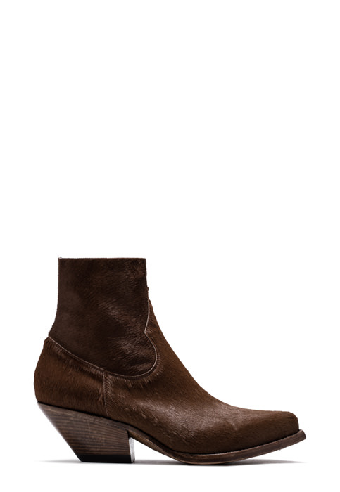 BUTTERO: ELISE DURANGO BOOTS IN STRETCH PONY SKIN COLOR BROWN (B8606BABCS-DC1/05)