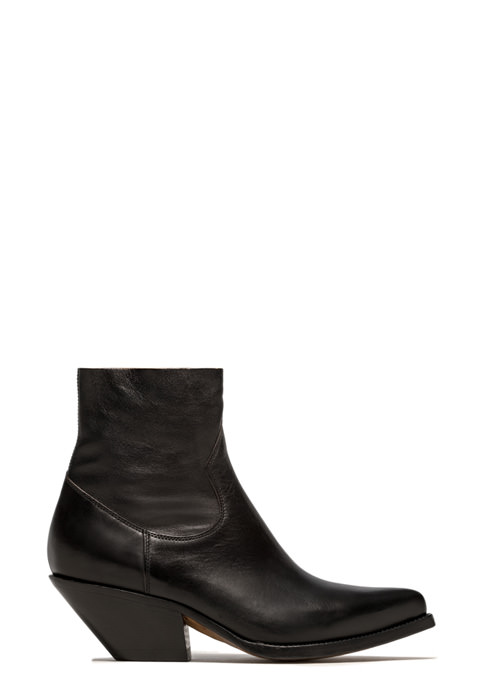 BUTTERO: ELISE DURANGO BOOTS IN BLACK LEATHER (B9206ODEM-DC1/01)