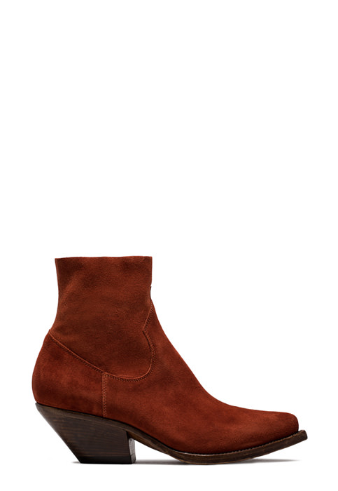 BUTTERO: ELISE DURANGO BOOTS IN STRETCH SUEDE COLOR BRANDY (B8606LIGS-DC1/69)