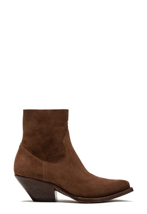 BUTTERO: ELISE LOW TOP DURANGO BOOTS IN FOX BROWN SUEDE (B9206LIG-DC1/54)