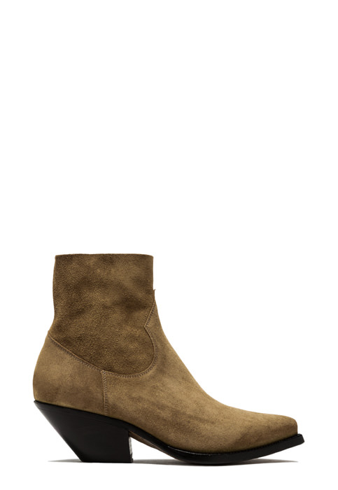 BUTTERO: ELISE LOW TOP DURANGO BOOTS IN PLANTATION SUEDE (B9206LIG-DC1/53)