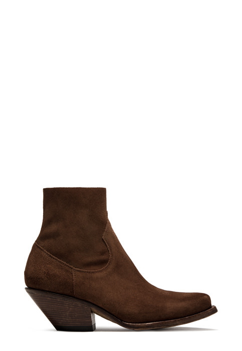 BUTTERO: ELISE DURANGO BOOTS IN STRETCH SUEDE COLOR NATURAL BROWN (B8606LIGS-DC1/27)