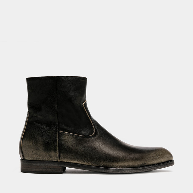 BUTTERO: FLOYD BOOTS IN BLACK LEATHER (B8880RUB-UC1/01)