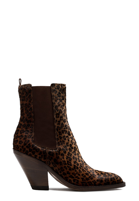 BUTTERO: JANE  ANKLE BOOTS IN SPOTTED PONY SKIN (B8610CAVA-DC1/05)