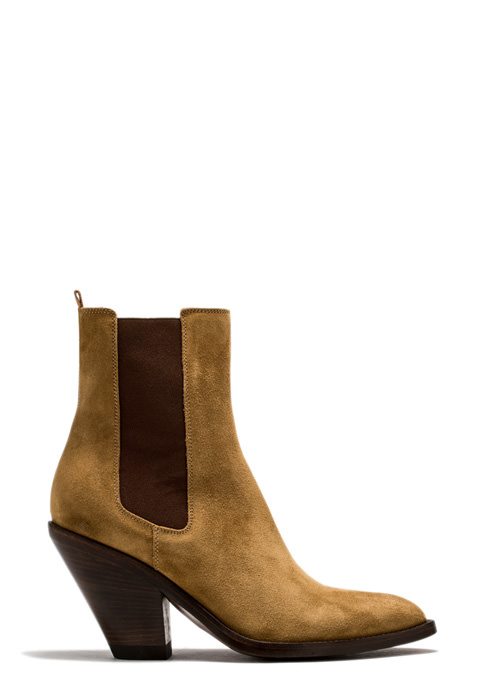 BUTTERO: JANE ANKLE BOOTS IN COPPER COLOR SUEDE (B8610LIG-DC1/13)