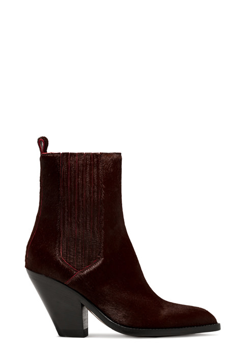 BUTTERO: JANE BOOTS IN BURGUNDY PONY SKIN (B9212CAVKE-DC1/10)