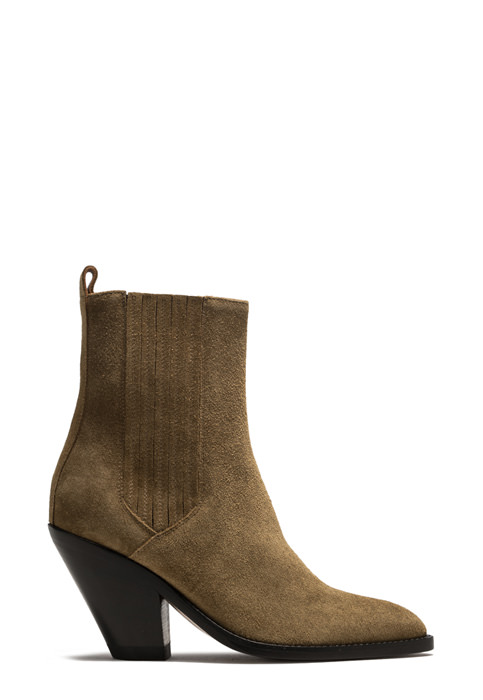 BUTTERO: JANE BOOTS IN PLANTATION GREEN SUEDE (B9210LIG-DC1/53)