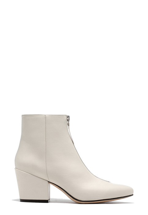 BUTTERO: CREAM LEATHER JOSELINE BOOTS