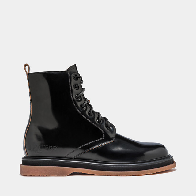 BUTTERO: LABORATORIO BOOTS IN BLACK LEATHER (B9312ROA-UG1/01)