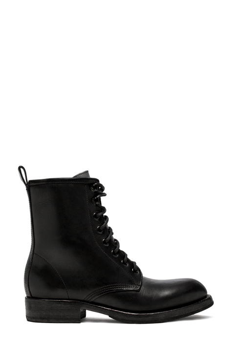 BUTTERO: LOU BIKER ANKLE BOOTS IN BLACK LEATHER (B8690VARA-DG1/A)