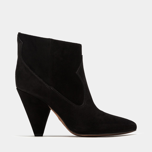 BUTTERO: BLACK SUEDE ROSE BOOTS