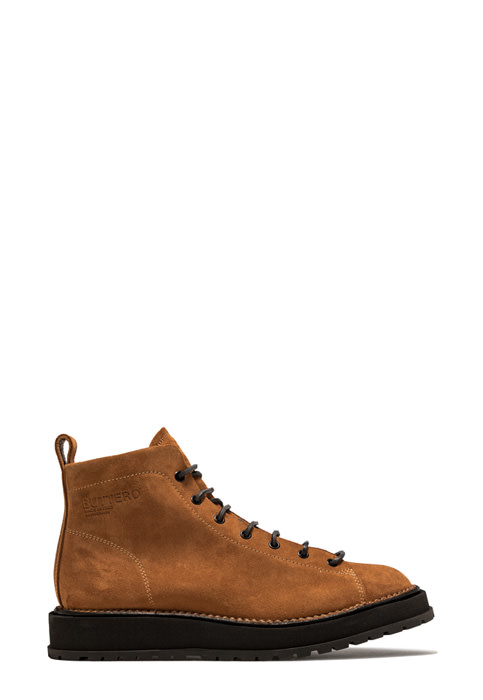 BUTTERO: AEDI LACE-UP BOOTS IN LIGHT BROWN SUEDE  (B9151GORH-UG1/18)