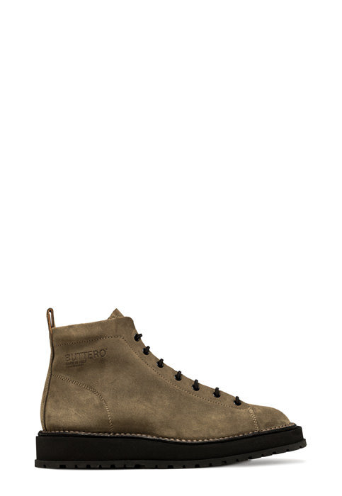 BUTTERO: AEDI LACE-UP BOOTS IN FOREST GREEN SUEDE (B9151GORH-UG1/83)
